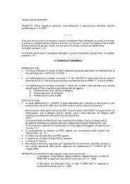 Piano regolatore generale - Comune di Bussero