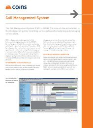 call Management System - the COINS USA Client Area
