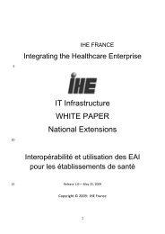 Interopérabilité et Utilisation des EAI pour les ... - Interop'Santé