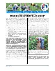 """tubo de muestreo """"el chucho"""" - Cuenta del Milenio - Honduras"""