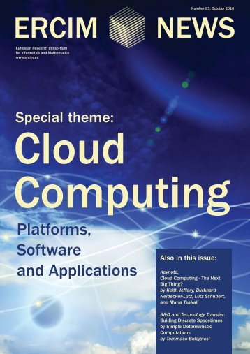 Platforms, Software and Applications