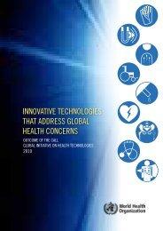 InnovatIve technologIes that address global health concerns