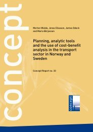 Planning, analytic tools and the use of cost ... - Concept - NTNU