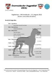Ergebnisse – IHA Innsbruck – 12. August 2012 - Österreichischer ...