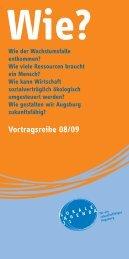 Vortragsreihe 08/09 - Nachhaltigkeit - Stadt Augsburg