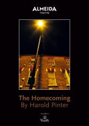 The Homecoming By Harold Pinter - Almeida Theatre