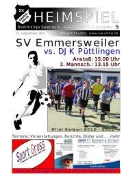 """Download """"HEIMSPIEL"""" Ausgabe 5 - Förderkreis Emmersweiler eV"""