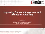 Improving Server Management with Exception Reporting - TeamQuest