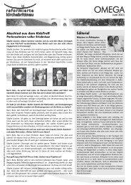 Editorial - Reformierte Kirche Brittnau