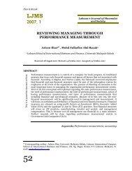 reviewing managing through performance measurement - Universiti ...