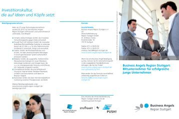 Flyer Business Angels Region Stuttgart e.V. - Push!