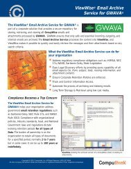 Email Archive Service for GWAVA - Datamation