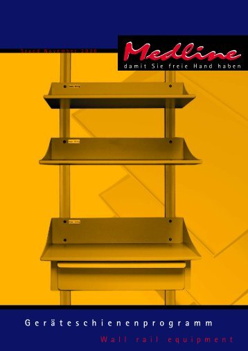 flexibility more space Medline shelf SYSTEM - Karl Heck GmbH
