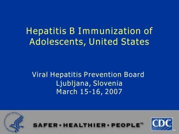 Hepatitis B Immunisation of Adolescents, United States