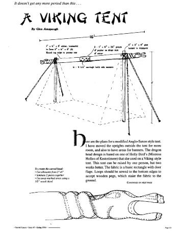 A VIKING TENT - the Current Middle Ages  sc 1 st  Yumpu & Viking Tent Construction Manual - Viking Age Club