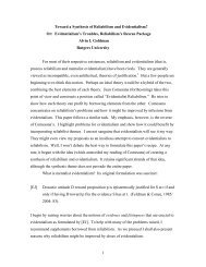 1 Toward a Synthesis of Reliabilism and Evidentialism? Or ...