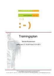 Monika Mustermann - Kupferberg Training