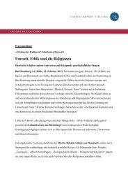Umwelt, Ethik und die Religionen - Herbert-Quandt-Stiftung