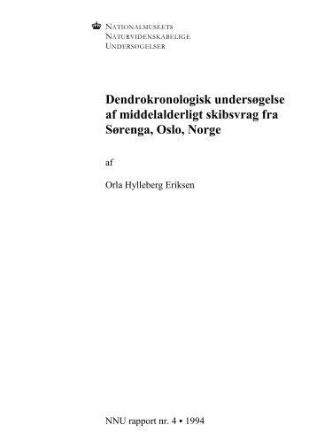 Dendrokronologisk undersøgelse af middelalderligt skibsvrag fra ...