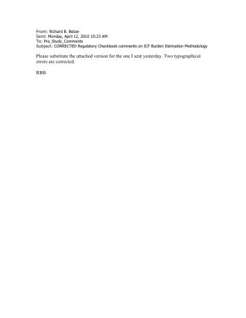 Regulatory Checkbook - United States Patent and Trademark Office