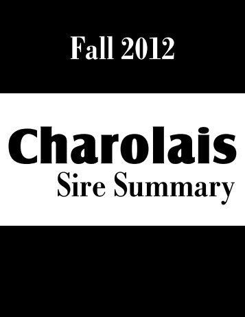 Fall 2012 - American International Charolais Association