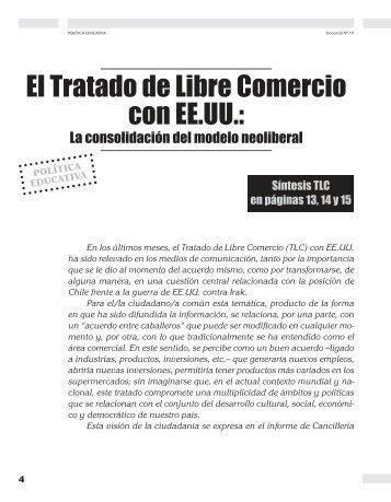 El Tratado de Libre Comercio con EE.UU.: La ... - Revista Docencia