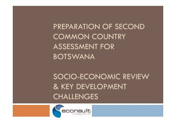 preparation of second common country assessment for botswana ...