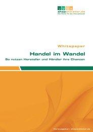 Handel im Wandel So nutzen Hersteller und Händler ... - DaySie.de
