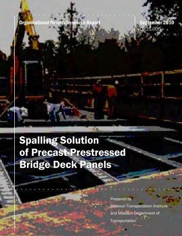 Spalling Solution of Precast-Prestressed Bridge Deck Panels
