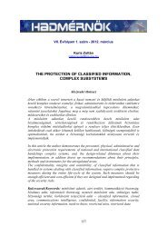 the protection of classified information, complex subsystems