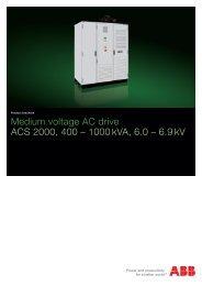 Medium voltage AC drive ACS 2000, 400 – 1000 ... - VAE ProSys sro