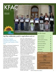 Spring 2012 - Kansas Foundation for Agriculture in the Classroom