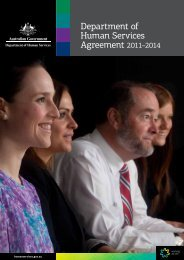 Department of Human Services Agreement 2011–2014 [pdf, 1.05mb]