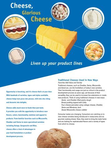 Cheese, Glorious Cheese - InnovateWithDairy.com