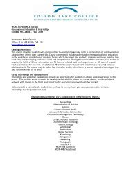 WORK EXPERIENCE (Co-op) Occupational Education & Internships ...