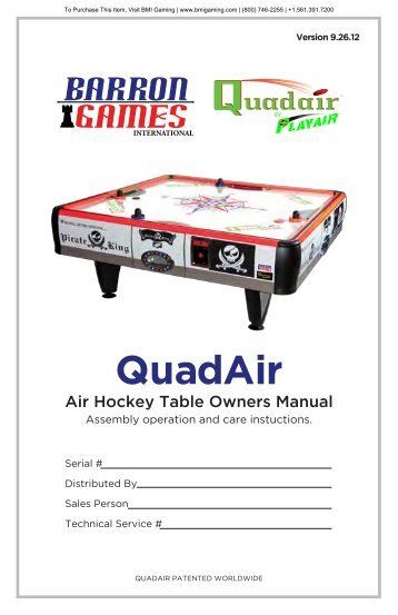 quad-air-hockey-tabl.. - BMI Gaming
