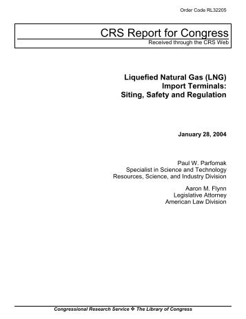 Liquefied Natural Gas (LNG) Import Terminals ... - The Air University