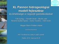 XL Pannon hidrogeológiai modell fejlesztése és lehetőségei