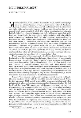 MULTIMEEDIALISUS* - Keel ja Kirjandus