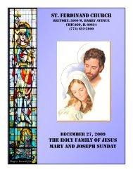 st. ferdinand church the holy family of jesus mary and joseph sunday