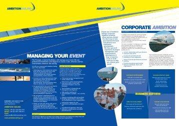 Corporate Ambition - Ambition Sailing