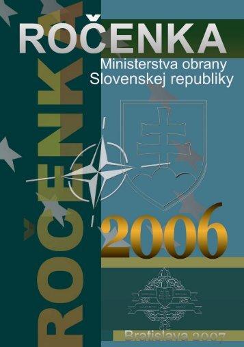medzinárodná spolupráca rezortu mo sr v roku 2006 - Ministerstvo ...