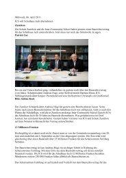 Mittwoch, 06. April 2011 ICS will Schulhaus Juch übernehmen ...