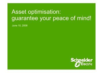 Asset optimisation Services - Schneider Electric