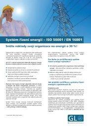 Systém řízení energií – ISO 50001 / EN 16001