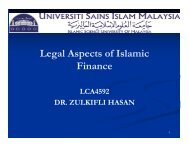 Legal Aspects of Islamic Finance