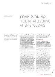 """COMMISSIONING: """"FejlFri"""" aFlevering aF en byggesag - Grontmij"""
