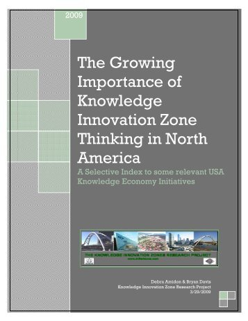 The Growing Importance of Knowledge Innovation Zone Thinking in ...