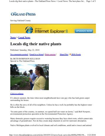 Locals dig their native plants - LandChoices