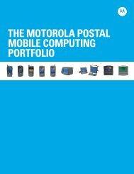 The Motorola postal Mobile Computing Portfolio - Motorola Solutions